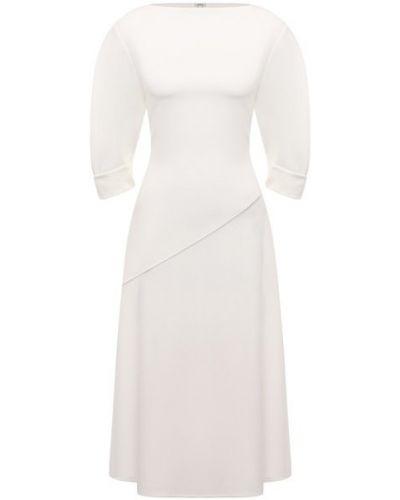 Платье из вискозы - белое Proenza Schouler