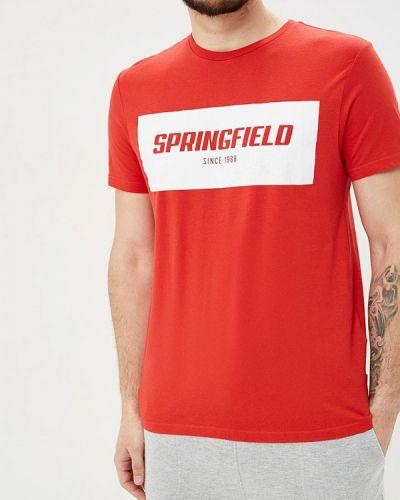 Футболка красный Springfield