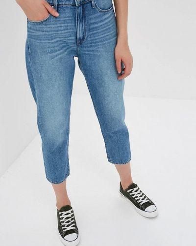 Голубые джинсы с высокой посадкой G-star