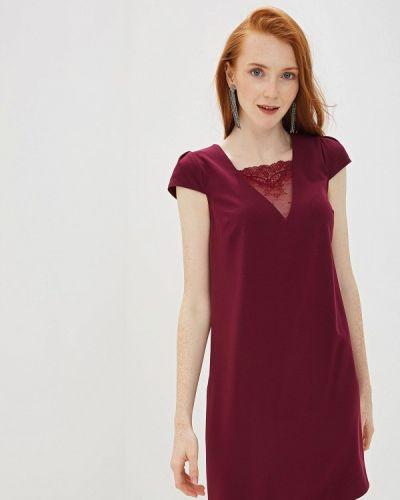 Вечернее платье бордовый красный Vittoria Vicci