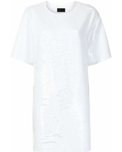 Biała sukienka mini krótki rękaw Rta