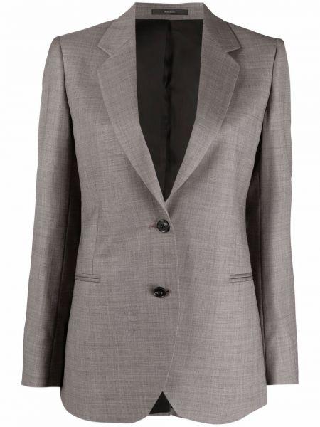 Фиолетовый шерстяной удлиненный пиджак на пуговицах Paul Smith