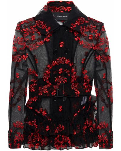 Черная куртка на пуговицах Simone Rocha