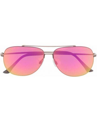 Солнцезащитные очки металлические - розовые Maui Jim
