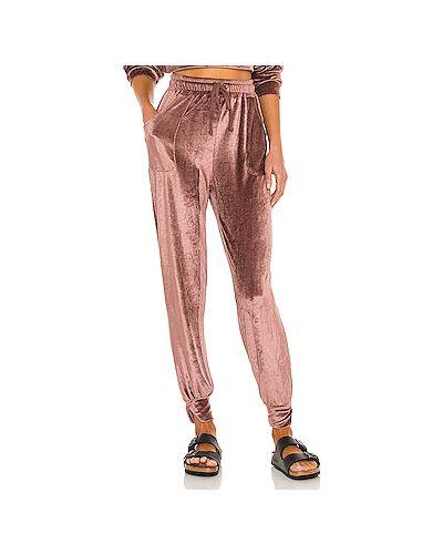 Фиолетовые брюки вельветовые эластичные H:ours