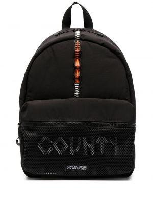 Czarny plecak z siateczką bawełniany Marcelo Burlon County Of Milan