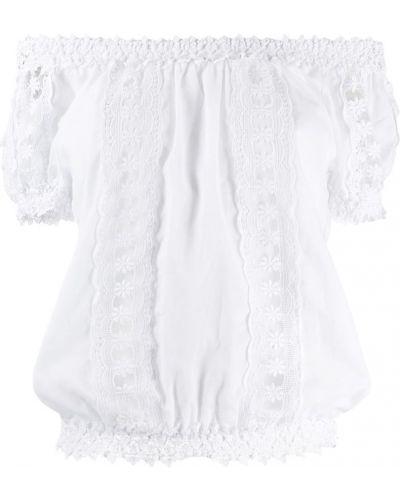 Прямая блузка с открытыми плечами с вышивкой Charo Ruiz