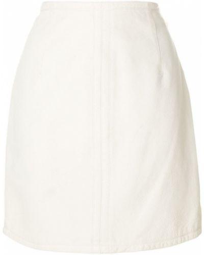 Юбка мини кожаная винтажная Versace Vintage