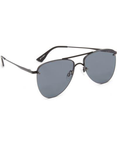 Черные солнцезащитные очки металлические матовые Le Specs
