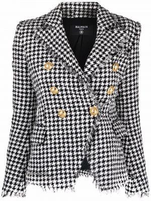 Пиджак твидовый - черный Balmain