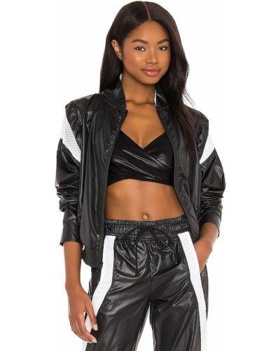 Czarna kurtka sportowa z nylonu z siateczką Koral