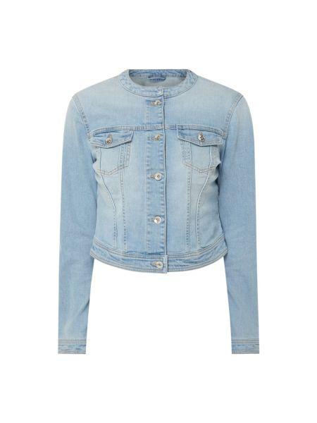 Niebieska kurtka jeansowa bawełniana z długimi rękawami Tom Tailor