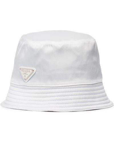Biały kapelusz bawełniany Prada