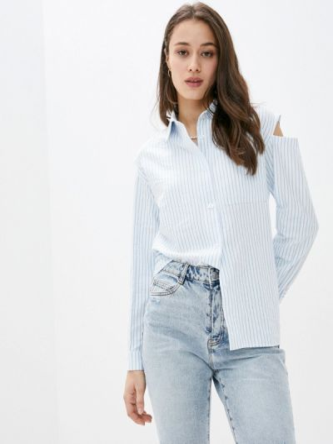 Белая рубашка с длинными рукавами Miss Gabby