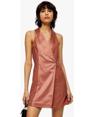 Розовое вечернее платье Topshop