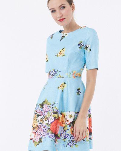 Голубое платье мини Vladi Collection