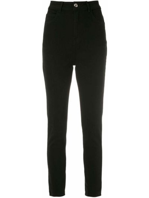 С завышенной талией черные джинсы-скинни с карманами Egrey