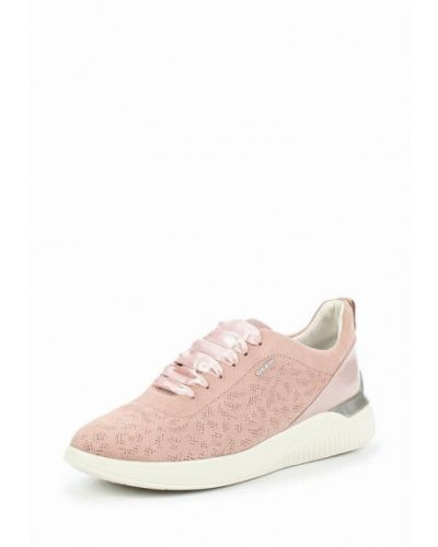 Розовые замшевые кроссовки Geox