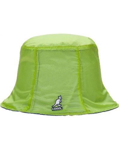 Желтая шапка с вышивкой Kangol
