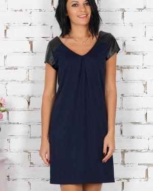 Платье мини со вставками с V-образным вырезом Ajour