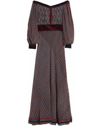 Czarna sukienka długa rozkloszowana z szyfonu Talitha