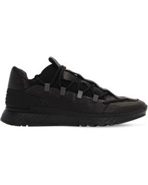 Czarne sneakersy skorzane sznurowane The Last Conspiracy