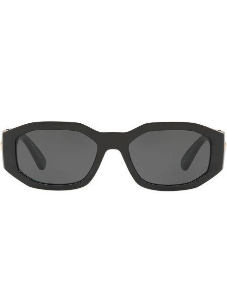 Прямые черные солнцезащитные очки квадратные Versace Eyewear