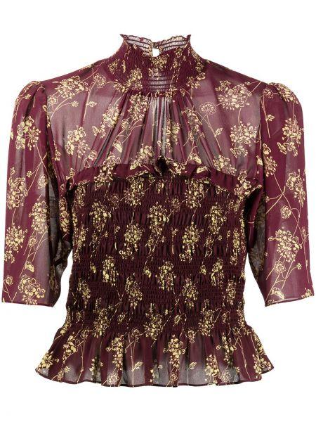 Блузка с принтом - красная Cinq À Sept