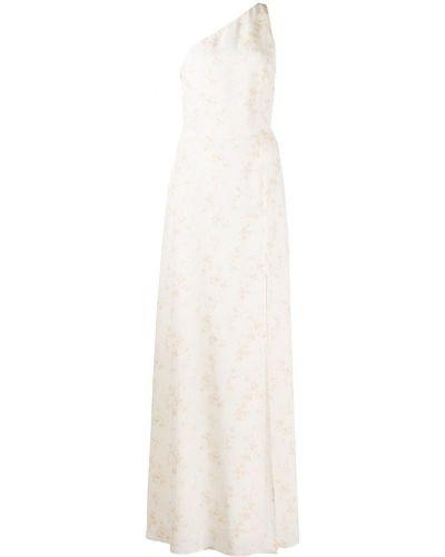 Платье макси в цветочный принт - белое Reformation