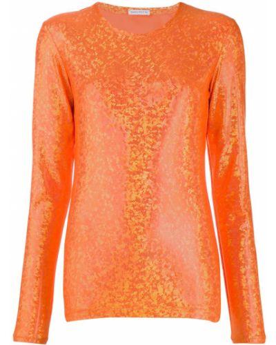 Блузка с длинным рукавом с пайетками в полоску Saks Potts