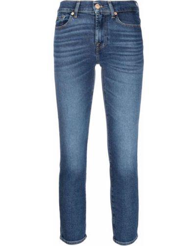 Синие укороченные джинсы 7 For All Mankind
