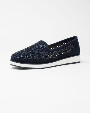 Замшевые туфли синий Vensi