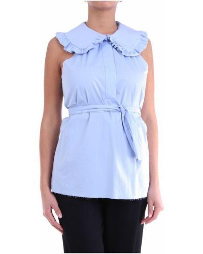 Niebieska bluzka bez rękawów Douuod