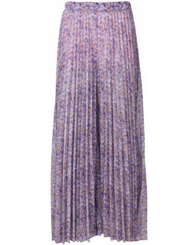 Юбка макси плиссированная с цветочным принтом Blumarine