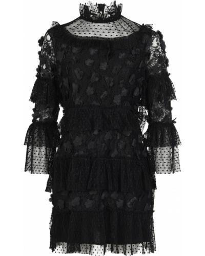 Платье из полиэстера - черное Elliatt