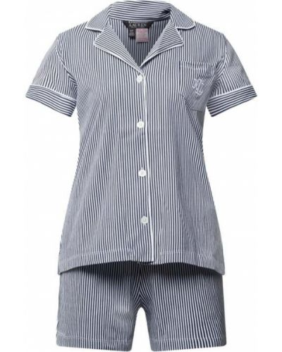Piżama bawełniana - niebieska Lauren Ralph Lauren