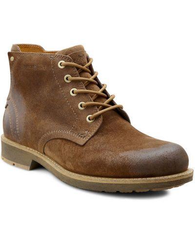 Ботинки на шнуровке осенние из нубука Ecco