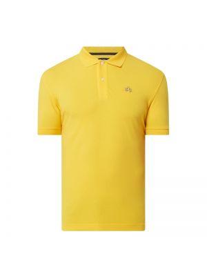T-shirt bawełniana - żółta La Martina