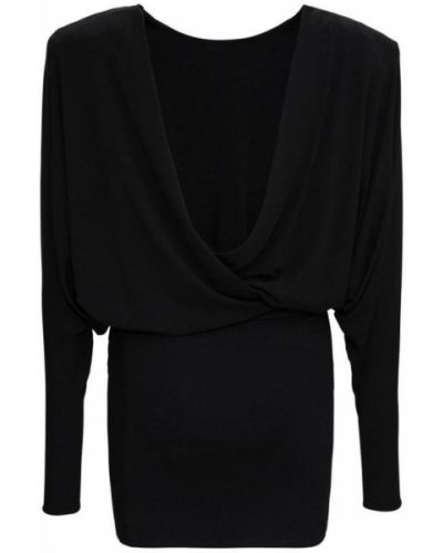 Czarna sukienka midi Alexandre Vauthier