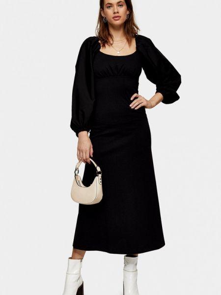 Платье прямое черное Topshop