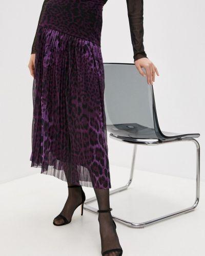 Фиолетовая плиссированная юбка Steffen Schraut