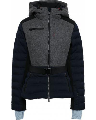 Szary płaszcz puchowy wełniany z kapturem Erin Snow