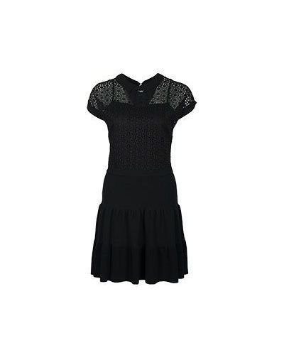 Черное платье из вискозы Valentino Red