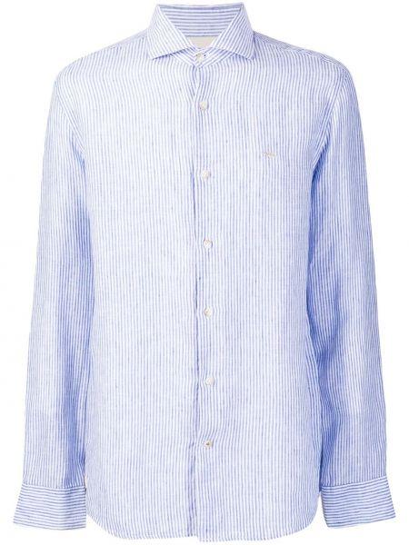 Koszula z długim rękawem w paski z paskami Seventy