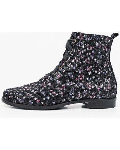 Кожаные ботинки - черные Bosccolo