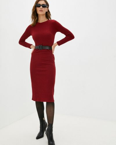 Платье футляр - бордовое Miss Gabby