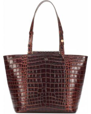 Кожаная сумка шоппер сумка-тоут Max Mara