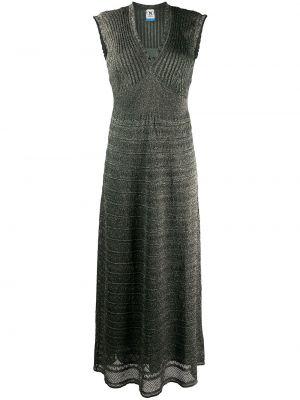 Платье в рубчик с V-образным вырезом M Missoni