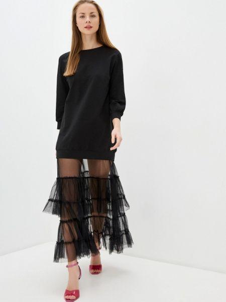 Платье платье-толстовка черное Imperial