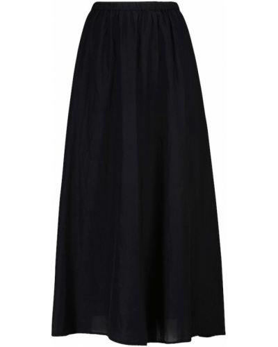 Хлопковая черная юбка макси Velvet